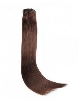 100g Mittelbraun Haarverlängerungen Clip In Haar 8 Teile/satz
