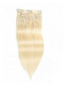 100g Platinum Blonde Clip In Haar Günstige Reine Haarverlängerungen 8 Teile/satz