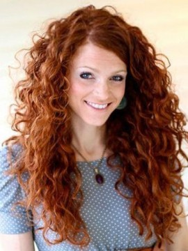 Erstaunlich Curly 100 Echthaar  Perücke