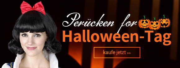 Perücken for Halloween-Tag