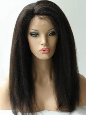 Kinky Straight 360 Lace Frontal Perücke