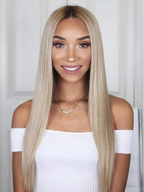 "18"" Yaki Straight 360 Lace Perücken"