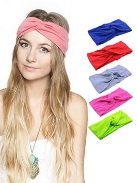 1 Stück Frauen Stretch Twist Stirnband Turban Sport Yoga Kopf Acc013