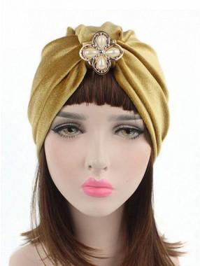 Mode Stretch Velvet Damen Turban Acc036