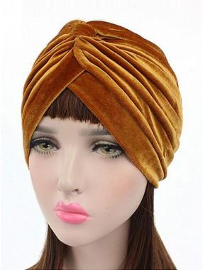 Mode Stretch Velvet Damen Turban Acc037