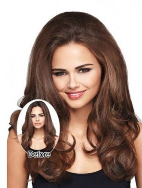 Populärste Wellig Lange Synthetische Clip In Haarteilen