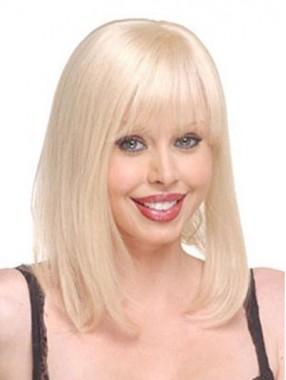 Natürliche Blonde Gerade Monofilament Top Haarteilen