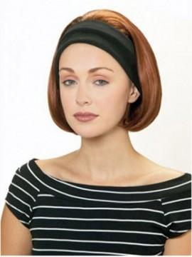 Glamourös Wie Kinn Bob Lange Stil Headband Perücke