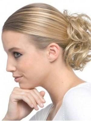 Blonde Lockig Sanfte Haarsträhne Stil Haarkranz