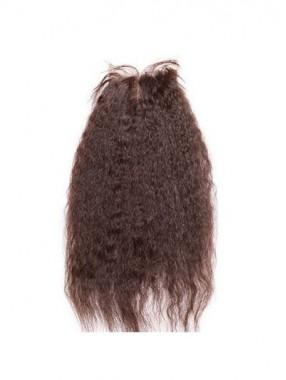 Glatte Mittel-geteilte Yaki Gerade Remy Haar Spitzeschliessen