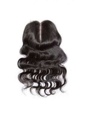 Körperwellige Remy Haar Mittle-geteilte Spitzeschliessen
