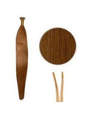 Billige Gerade Stock/I Tip Haarverlängerung DATH019