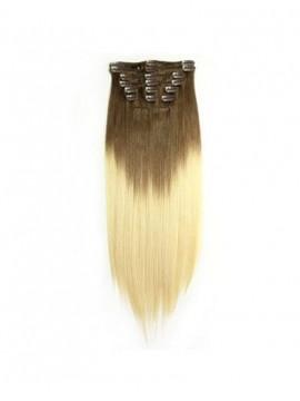 Cool Einfärben Clip-In Gerade Haar