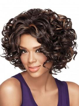 Luxus Capless Curly 12-Zoll-Perücke