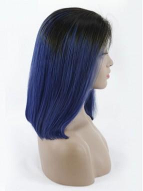 Populäre Volleelspitze Zweifarbige Farbe Echthaar Perücke