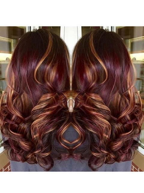 "24"" lange Ton-Farben-synthetische Haar-Perücken"