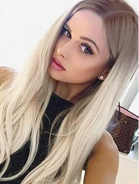 Silber Platinum Blonde Lace Perücken