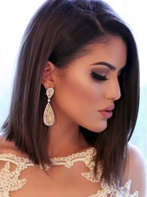 100% Remy Echthaar Perucke Lace Front Bob