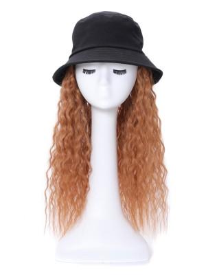 Locking Synthetik Extensionen der Haare Perücke Mit Schwarz Hut