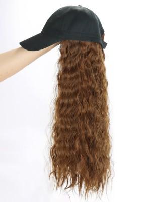 Lang Wellig Perücke Mit Frauen Baseball Hut