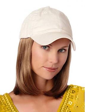 Mode Kurz Bob Stil Perücke Mit Weiß Baseball Hut