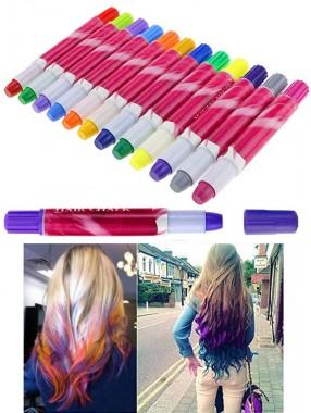 12 Farbe Haarfärbemittel Stick Set Kinder temporäre Haarfärbemittel Buntstifte Weihnachtsfeier Make-up Haarfarbe Kreide