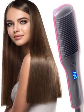 Glattes Haar Kammgerade und Curling Dual-Use große LockenwicklerPony Glätte Schieneweibliche innere Schnalle faulen elektrischen Lockenstab