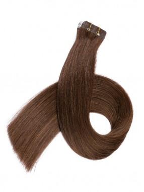 Braun Lange Grade PU Haarsträhnen
