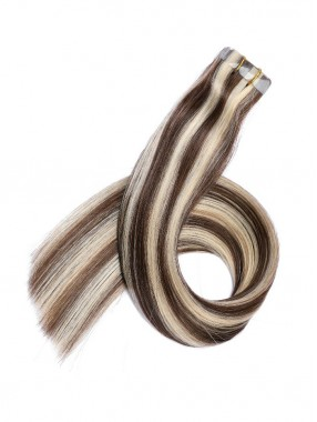 Lange Grade PU Haarsträhnen