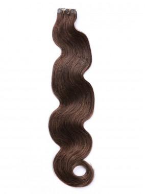 Braun Lange Wellig PU Haarsträhnen