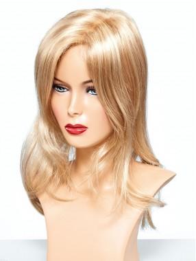 Blond Lang Gerade Monofilament Haarteile Toupée