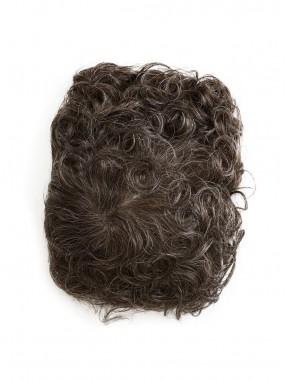 Kurz Wellig Monofilament Haarteile Toupée