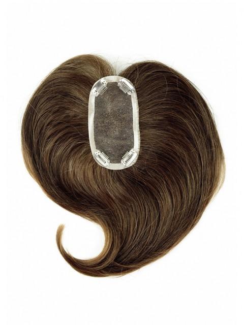 Braun Lang Gerade Haarteile Toupée