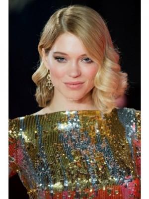 Schöne Wellige Blonde Lace Front Echthaar Perücke