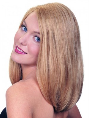 Super Charming Long Straight Natural Blonde Glueless Lace