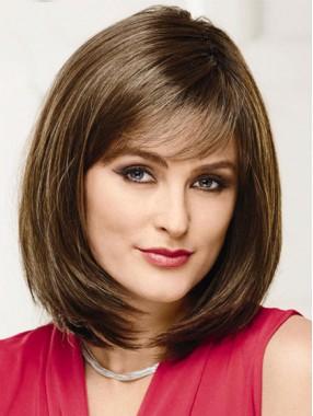 Schöner Mittellange Gerade Top Qualität Menschliches Haar