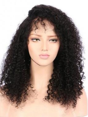 Natürliche Schwarze Spitzefront Remy Haar Perücken