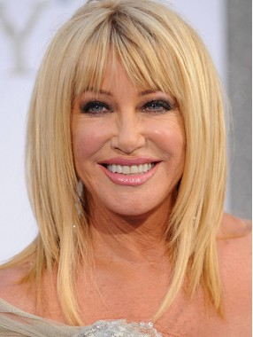 Suzanne Somers Lang Gerade Remy Echthaar Perücke