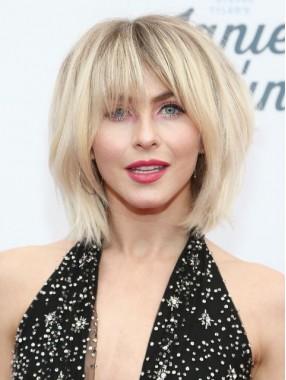 Blond Kurz Gerade Perücken