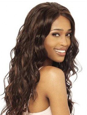 Lang Wellig Lace Front Remy Echthaar Perücke
