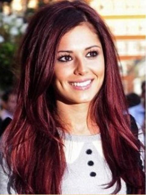 Cheryl Cole Stile Amarant Rot Perücken
