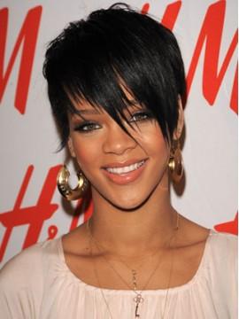 Rihanna Kurz Haar Stile Perücke