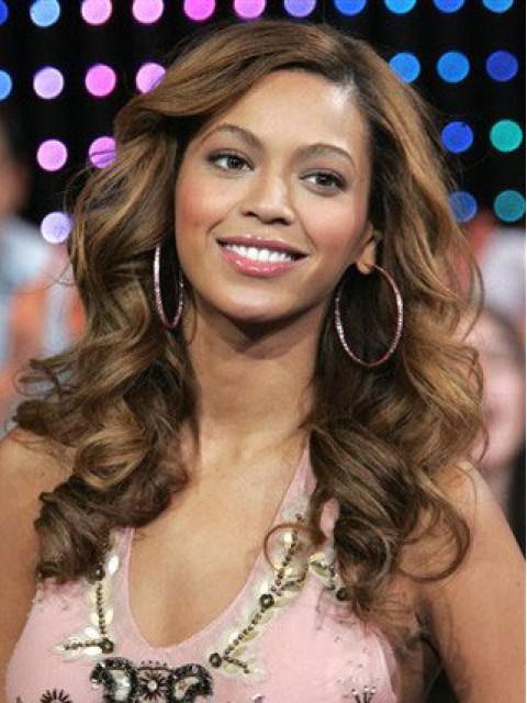 Beyonce Lang Spitzenfront Wellig Synthetik Perücken
