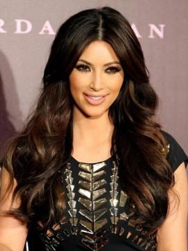 Kim Kardashian Mittel Trennung Lang Vollspitze Wellig 1 Rem