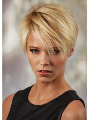 Synthetik Hair Gerade Kurz Blond Perücken