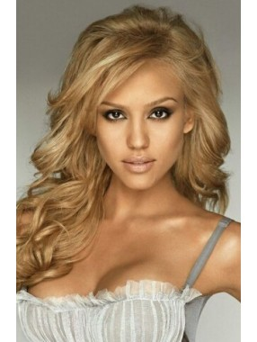 Jessica Alba Lang Welling Blond Perücken