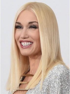 Gwen Stefani Gerade Spitzefront Remy Echthaar Perücken