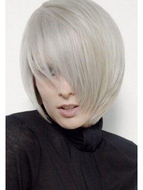 Kurz Kappenlos synthetische Haar-Perücke