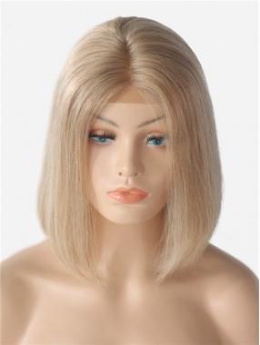 180% Dichte 13*6 Inch Blonde gerade Spitzenfront echthaar Perücke
