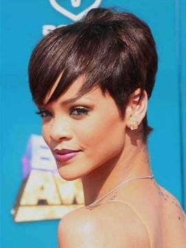 Rihanna Frisur Gerade Kurz Perücke